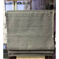 Готовая римская штора серая рогожка 58*127 см