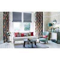 Римская штора однотонная в гостиную, спальную система классик
