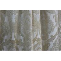 Шторы ткань в спальню золотая корона белый