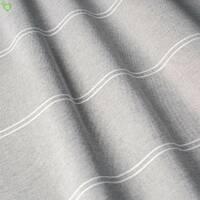 Тюль серая с тонкими белыми полосами на однотонной основе в зал, спальную 83282v1