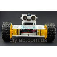 Ультразвуковий датчик відстані 0-5м + Інфрачервоний давач GP2Y0A02YK0F з кріпленням для платформи T-BOT