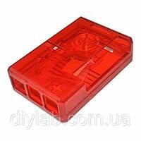 Корпус для Raspberry Pi 2 B / Raspberry Pi 3 B  червоний прозорий