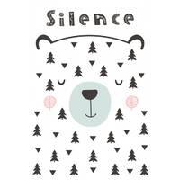 Постер в рамке Silence 30х40 см