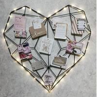 Настенный органайзер Мудборд Сердце (moodboard) бронзовый
