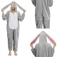 Пижама кигуруми Заяц (серый) S