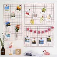 Настенный органайзер Мудборд (moodboard) доска визуализации и планирования, Прямоугольная 30*60 см (Розовый)