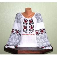 Українська вишита сорочка жіноча. Старовинний узір. Ручна робота.