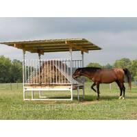 Обладнання для годування коней (ясла, кормушки)