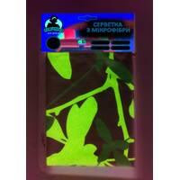 """Салфетка из микрофибры универсальная с рисунком ТМ """"Помощьница"""" Бабочки."""