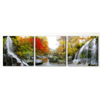 """MS 14075 (DZ 264) ТРИПТИХ """"Водопад"""" Роспись по номерам на холсте 150х50см"""