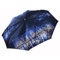 Панорамный зонт Три Слона САТИН ручка кожа ( полный автомат ) арт. L3845-1