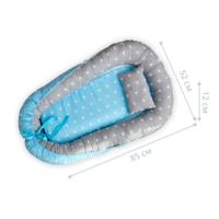 Кокон позиционер для новорожденных Dobryi son 85х52 см 05-02 серо-голубой
