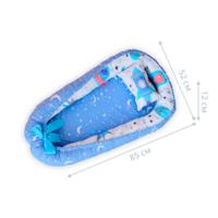 Кокон позиционер для новорожденных Dobryi son 85х52 см 05-02 синий