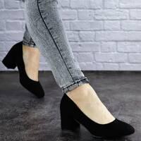 Женские туфли на каблуке черные Slider 2032 (40 размер)