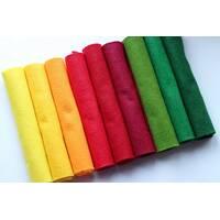 """Набір китайського м'якого фетру Pugovichok """"Осінній букет"""" 9 кольорів для рукоділля та творчості (7159)"""