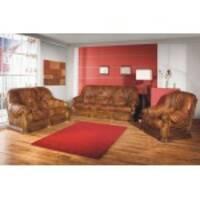 Кожаный комплект мебели на дубе Roma 3+1+1