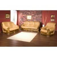 Кожаный комплект мебели на дубе Rimini 3+1+1