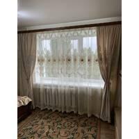 Комплект компаньон бархатных штор с тюлью