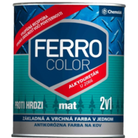 Фарба Chemolak Ferro Color матова темно-зелена 0,75л. (RAL 6005)