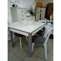 Деревяний стіл Верона зі скляною стільницею