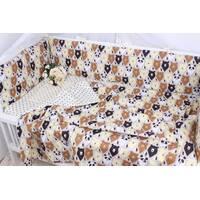 Тонкие бортики защита в кроватку и постельное белье