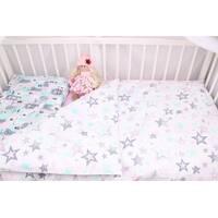 Постільна білизна в дитяче ліжечко Рожево-м'ятні ведмедики