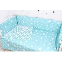 Тонкі сатинові борти захист в ліжечко