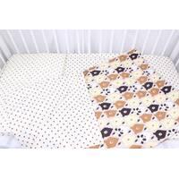 Постільна білизна в дитяче ліжечко  ведмедики коричнево-бежеві