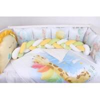 "Комплект в ліжечко з панельками ""Веселкові тварини"""