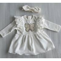 Платье с крылышками интерлок ТМ Happy Tot 68, Молочный