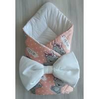 Одеяло-конверт с подушкой ТМ Happy Tot Весна/осень, Розовый