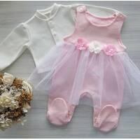Комплект ползунки с юбкой+кофточка ТМ Happy Tot 68, Розовый