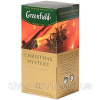 """Чай """"Грінфілд"""" 25п*1,5г Черный Christmas Mystery (Пряности) (1/10) 642**"""