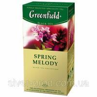 """Чай """"Грінфілд"""" 25п*1,5г Черный Spring Melody (Чебрец) (1/10) 651"""