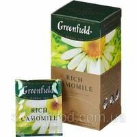 """Чай """"Грінфілд"""" 25п*1,5г Травяной Rich Camomile (Ромашка) (1/10) 692"""