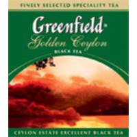"""Чай """"Грінфілд"""" 100п*2г Черный Golden Ceylon М/В (1/12) 6432"""
