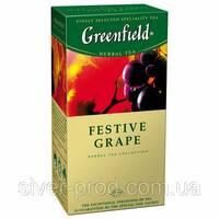 """Чай """"Грінфілд"""" 25п*2г Травяной Festive Grape (Виноград) (1/10) 629"""
