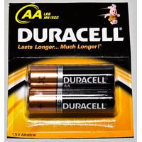 Батарейка Duracell АА пальчик в пленке 2шт (1/120)