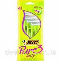 Станок для бритья BIC LADY PURE-3 4шт зелени (1*4/20)