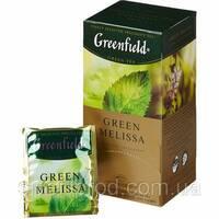 """Чай """"Грінфілд"""" 25п*1,5г Зеленый Green Melissa (Меліса) (1/10) 630"""