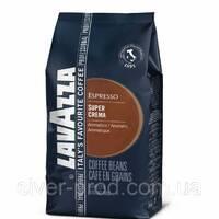 """Кофе """"Lavazza"""" зерно SUPER CREMA Синяя 1кг НОВАЯ (80% арабіка, 20% робуста) (1/6)"""