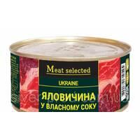 Meat Selected Говядина в собственном соке 325г же/бы (1/18)