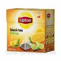 """Чай """"Ліптон"""" 20п*1,8г Цитрус черный пирамидка (1/24)"""