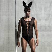Еротичний чоловічий костюм Зайчик Джонні з маскою