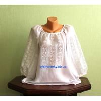 полтавская вышиванка женская белым по белому