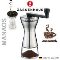 Ручная кофемолка Zassenhaus Manaos с керамическими жерновами и регулировкой уровня помола
