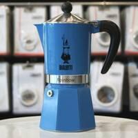 Гейзерная кофеварка Bialetti Rainbow Blue (6 чашек - 300 мл)