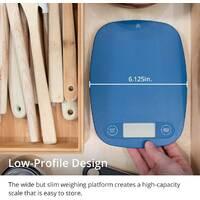 Цыфровые кухонные весы в грамах и унциях   Синие