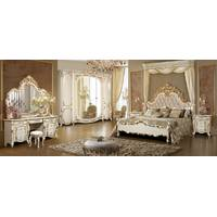 Класична спальня Афіна біла з золотом.Подарунок матрац!