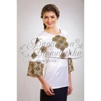 Блузка-вишиванка жіноча вишита бісером ЖБ033кБнн02